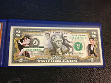 USA $2 Dollar Bill ELVIS PRESLEY The King Legal Tender OFFICIALLY LICENSED