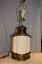 Vintage hollywood regency solid brass and ceramic urn chapman Massive lamp 1978