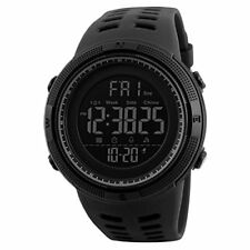 Mens Digital Watch,COOLANS Gents Military Sports Watches Big Face Casual 5ATM Wa