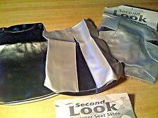2001 HONDA CBR 600 F4i 2pc SEAT COVER SKINS & TANK BRA Black/Silver SECOND LOOK