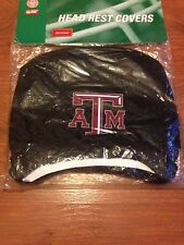Texas A&M Aggies Set of 2 Head Rest Covers New