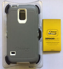 NEW OtterBox Defender Case for Samsung Galaxy S5 w/Holster Glacier Gray/White