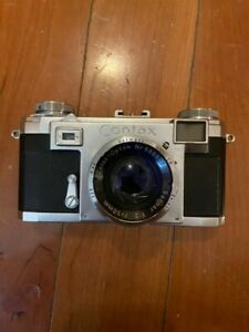 Vintage ZEISS  Contax Rangefinder Camera w/50mm Zeiss Lens and 135mm Nikkor Lens