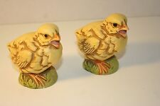 Vintage UCTCI Japan 2 Chicken Figurines Mid-Century