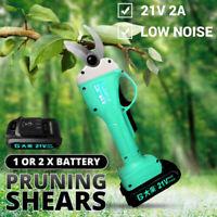 45mm 21V Cordless Electric Pruning Shears Li-ion Secateur Garden Branch Cutter