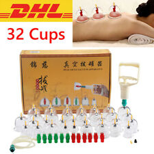 32 Stück Schröpfen Set Massage Schröpfgläser Vakuumpumpe Cupping Saugglocken Set