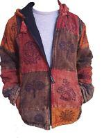Thick Hippie Boho Stone Washed Retro Cotton Funky  Jacket Festival Nepalese