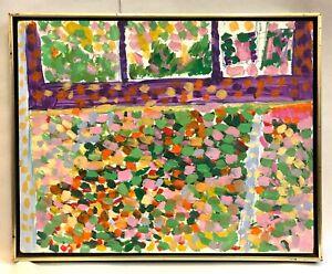 "Ancil CHASTEEN (Listed Artist) ""Summer Window"" Acrylic on Board"