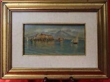 Dipinto olio su tavola - marina napoletana - fine '800