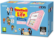 Nintendo 2DS Pink+White Console + Tomodachi Life Game Bundle IT IMPORT NINTENDO