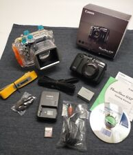 Canon PowerShot G12 Camera & Original Canon WP-DC34 Underwater Housing MINT