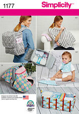 Simplicity SEWING PATTERN 1177 Nappy Backpack,Bib,Play Mat,Nursing Shawl etc