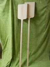 Pareja de PALAS PANADERAS de madera para horno. 1,70 largo. Cuadradas 40x25