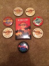 Lot Of 8 Rock Cafe Vintage Pinback Button Coast Is Toast Volcano