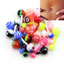 Flexible Bar Piercing Body JewelHk 20Pcs/Set Mix Multicolor Silicone Navel Belly