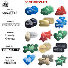 Engraved Pet Tags DOG CAT ID FREE Deep Engraving Name Identity + FREE RING , C