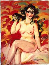 NUDE Oil Painting- RUSSIAN ARMENIAN listed artist ALEXANDER GRIGORYAN Grigorian
