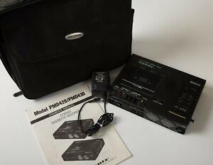 Marantz PMD420 Cassette Deck (A2L) Portable Stereo Recorder w/AC Adapter & Book
