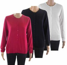 Marks and Spencer Women's Acrylic Long Sleeve Button Jumpers & Cardigans
