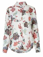 NEW LADIES Marks & Spencer M&S MODAL LONGSLEEVE FLORAL SHIRT  Size 10 , 12 , 14