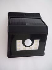 New listing Solar Motion Outdoor Wall Garden Light Lamp 8 Led Black Square