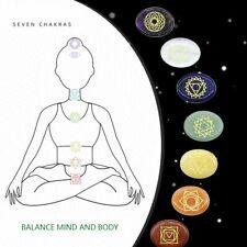 Set 7PCS Chakra Stones Crystal Reiki Healing Energy Palm Natural Gemstone Quartz