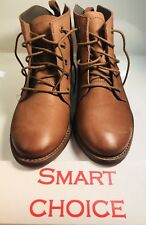 Boot Ankle Shoes Skechers 8.5 Brown Leather Women Winter Warm Comfortable