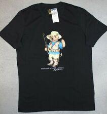 """NEU Polo Ralph Lauren Classic-Fit T-Shirt mit """"Bear Angler"""" Shirt S-XL schwarz"""