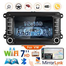 "7"" Radio Coche 2DIN Android 8.1 GPS Navi Bluetooth  VW GOLF PASSAT POLO TIGUAN"