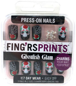 Fing'rs Prints Press-On Nails Ghoulish Glam New & Sealed 31392 - Deadly Diva
