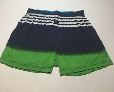 Stance The Mercato Relaxed Fit Button Fly Knit Boxer Navy Size Small 28-30