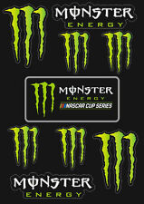 Monster Energy Drinks Logo Sheet of 9 Stickers Decals Set Nascar Cup Series