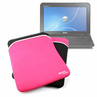 Black & Pink Reversible Neoprene Laptop Case/Cover For Dell Inspiron Mini 1018