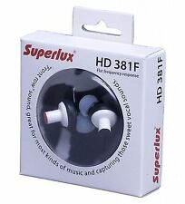 Superlux HD381F In-ear Monitor Headphones 3.5mm Plug 0.6-meter Cable