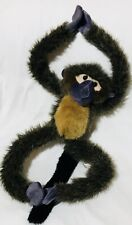"Alberto Spider Hug Monkey Brown Purple 17"" K & M Wild Republic Plush Toy Lovey"