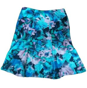 BM COLLECTION POLYESTER FLORAL SKIRT SIZE UK 14