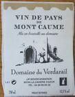 Etiquettes vin FRANCE Dom de Verdarail Vin de Pays Mont Caume  wine labels