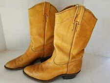 Boulet Western Leather Tan Brown Cowboy Riding Boots womens Sz 8