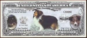 SHETLAND SHEEPDOG 🐶 Certificate Million 🐶💶 Fantasy Note 🐶Buy More Save More