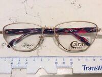 Zeiss Carat 6931 4100 56-15 occhiale vista vintage nuovo metallo donna oro opaco