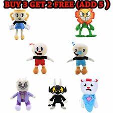 Game Cuphead Mugman Ghost Chalice Devil Boss King Dice Plush Doll Figure NEW