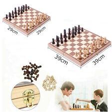 3 in 1 Schachspiel Geschenk Schach Spielbrett aus Olivenholz Backgammon 29/39CM