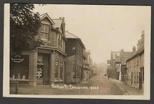Postcard Edwinstowe nr Mansfield shop front in The High Street posted 1917 RP