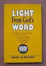 Light From God's Word ~ Owen Olbricht ~ Church of Christ ~ PB ~ Like NEW !
