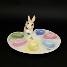 Fitz And Floyd Painting Easter Eggs Tray Plate Bunny Handmade With Original Box