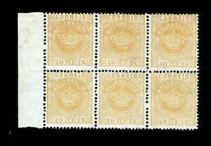 MOÇAMBIQUE-Bloco.lado de folha,com 6 selos COROA Nº 13.MNG.