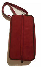 New listing Picnic at Ascot Insulated Wine Tote Cooler for Two Red Faux Suede Unused