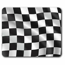 Computer Mouse Mat - Checkered Flag Race Car Bike Office Gift #12710