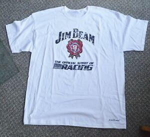 New JIM BEAM Official Spirit of Racing Mens XL T Shirt White Short Sleeve