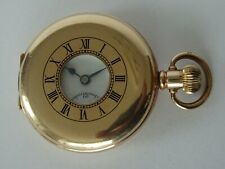 VERY GOOD QUALITY, GENTLEMAN'S GOLD PLATED, SWISS MADE HALF HUNTER POCKET WATCH